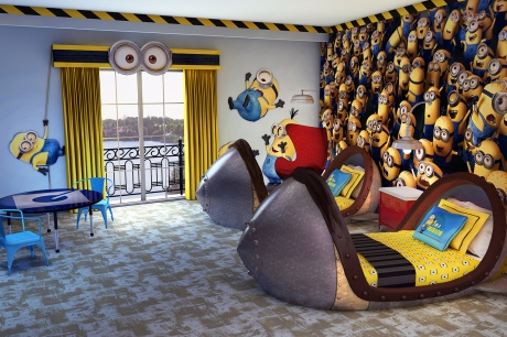 Family fun in the Despicable Me Kids Suite at Portofino Bay Hotel