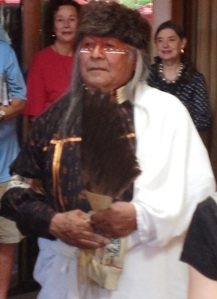 Governor of the Picuris Pueblo blessed our breakfast at Santa Fe Hotel