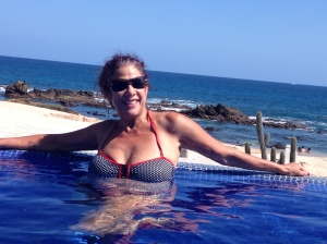 Relaxing at one of the pools at Fiesta Americana Grand Los Cobos Golf & Spa Resort