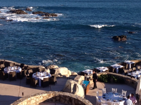 Elegant dining at Coquina del Mar, signature restaurant of Esperanza, an Auberge Resort. photo by Karen Kuzsel