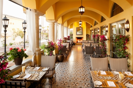 The patio of the fine dining restaurant, Prado, in the newly-reflagged Omni Scottsdale Resort & Spa