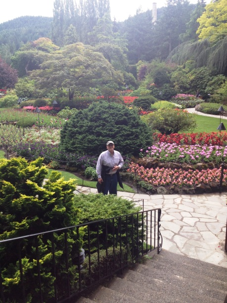Russ in Butchart's Sunken Gardens. photo by Karen Kuzsel