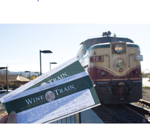 Win two tickets on the Wine Train. Sip, sup and sightsee through Napa Valley, CA