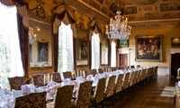 The ballroom at Brocket Hall, UK