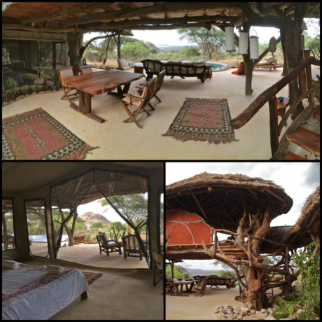 My idea of luxury camping. Loimugi House at Serara Camp, Kenya.
