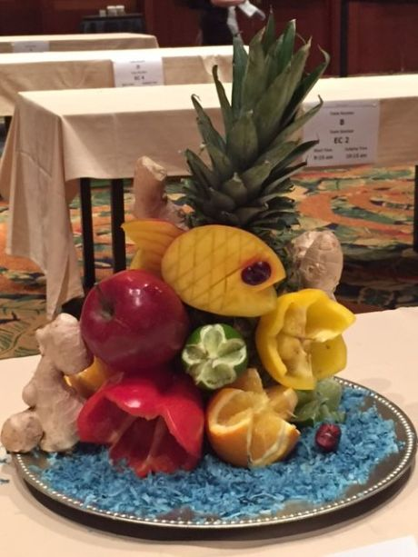 Sea life centerpiece. photo by Karen Kuzsel