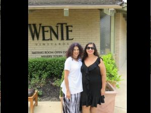 We doubled the pleasure at Wente Wineries in Livermore Valley. L to R: Karen and Gabrielle. photo by Russ Wagner
