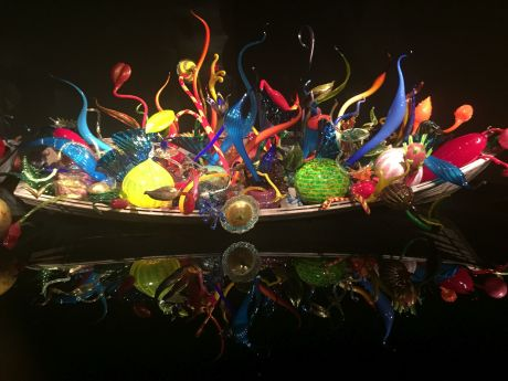Float boat in the Chihuly Garden & Glass Museum.