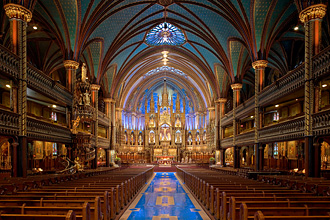 The Basilica at Notre Dame, just one of six churches used for venue space in Montréal, Canada