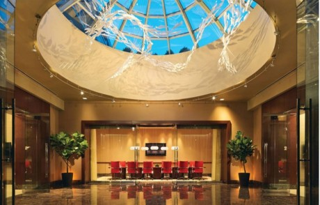 Battery Wharf Hotel lobby in Boston is offering great booking deals