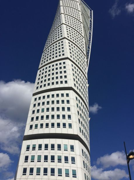 building in Malmo, Sweden. photo by Karen