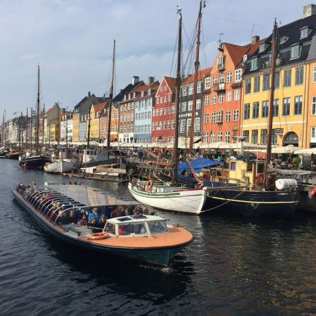 canal rides at Nyhavn, Copenhagen, Denmark. photo by Karen