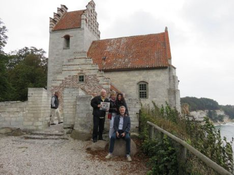 Russ, Else, Karen & Erik at Stevns Klint,, a UNESCO site