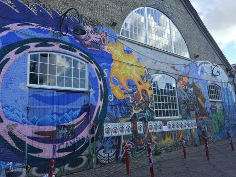 wall art in Christiana, Cophenhagen. photo by Karen