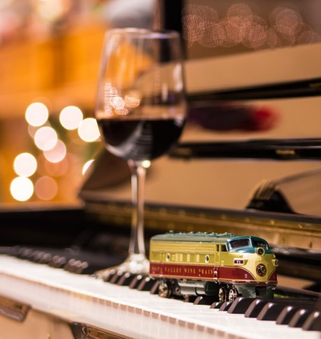 Sip a glass of wine aboard the Wine Train in Napa, CA
