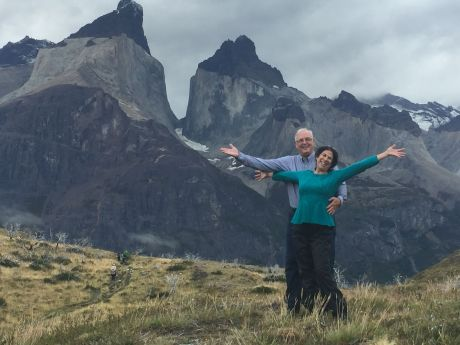 Russ and me, after our successful hike in Torres del Paine National Park, Chile.