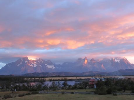 The beauty of Patagonia outside our hotel window in Torres del Paine National Park