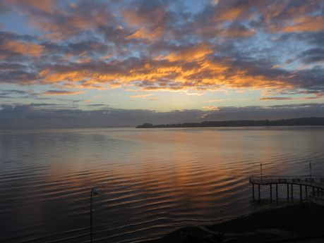 View from our room at Gran Hotel Colonos del Sur, Puerto Varas. photo by Russ Wagner