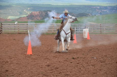 At Red Reflet ranch,  you can learn roping, riding and shooting skills