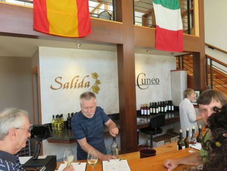 Friendly conversations and wine tasting at G. Cuneo Cellars