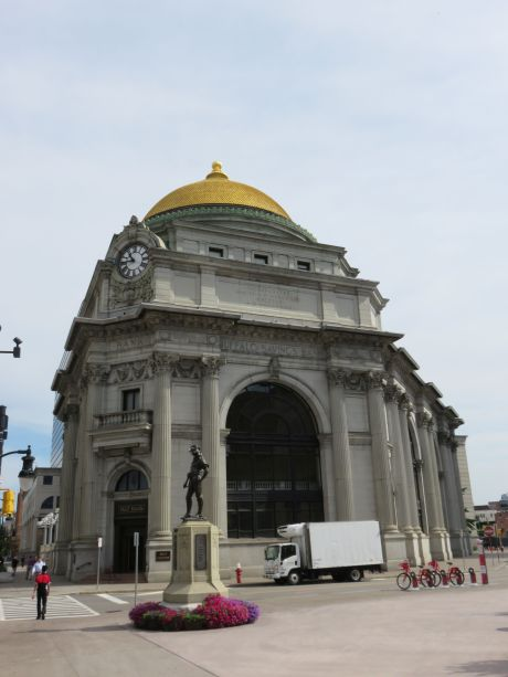 The current M&T bank building, locally referred to as the gold-domed building