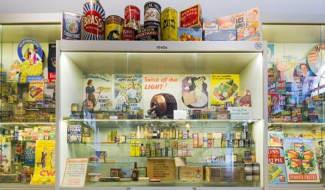 Over 12,000 retro and modern products surround you at Museum of Brands holiday parties