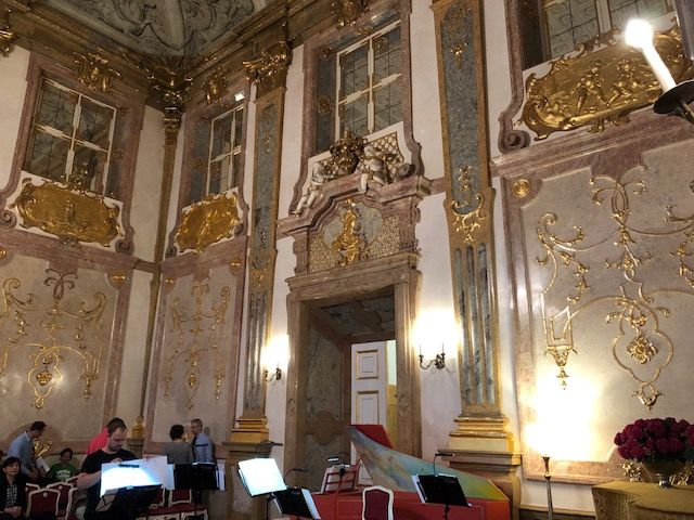 IMG_0902 Schlosskonzerte Mirabell concert hall where Mozart gave his first concert at age 6.
