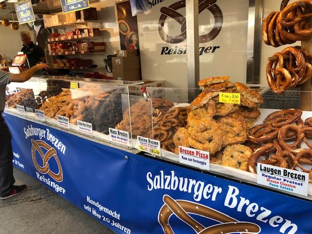IMG_0913 Ever-prevalent pretzels come in every size and flavor.