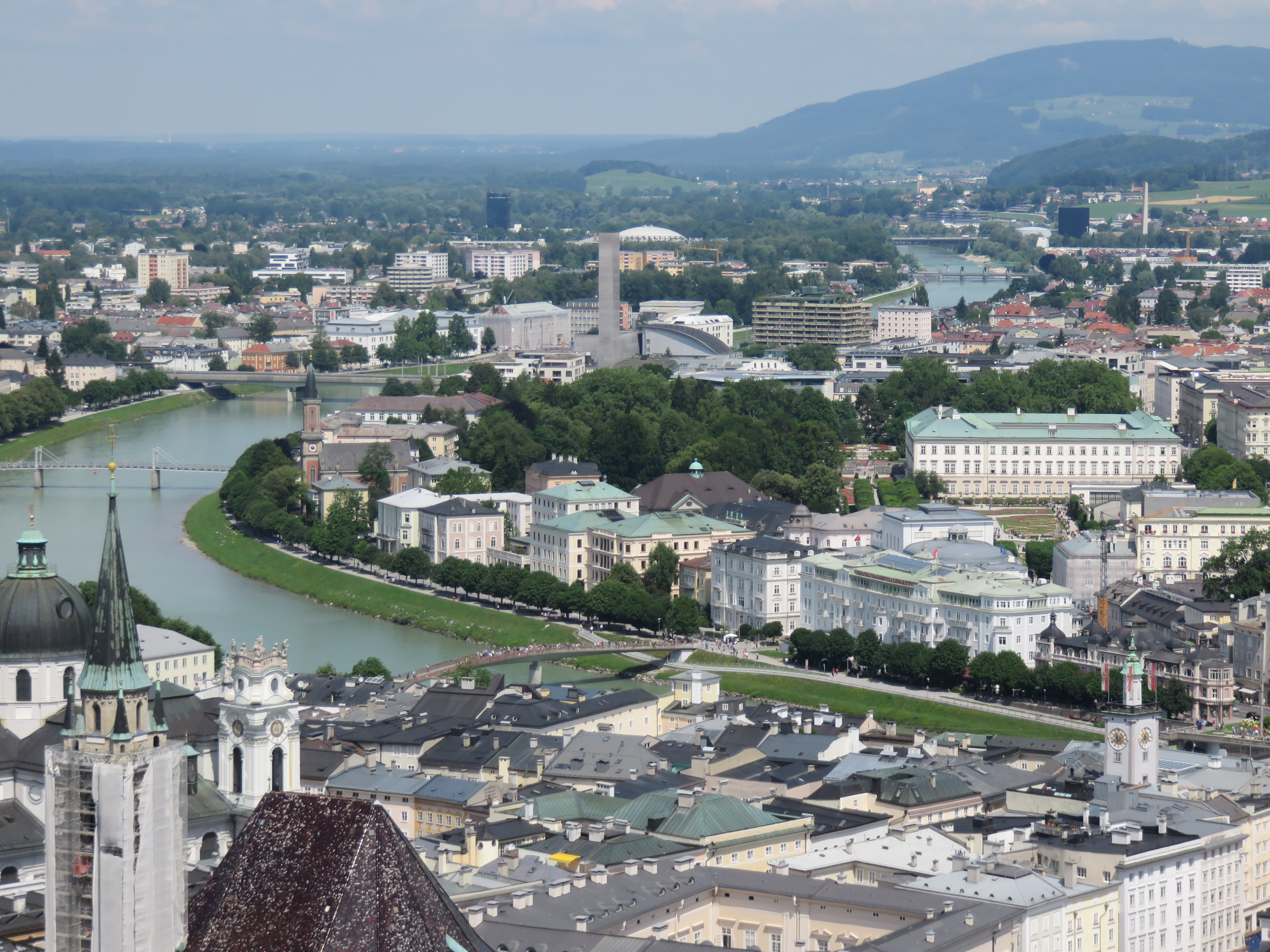 IMG_9465 Looking down on the city of Salzburg.