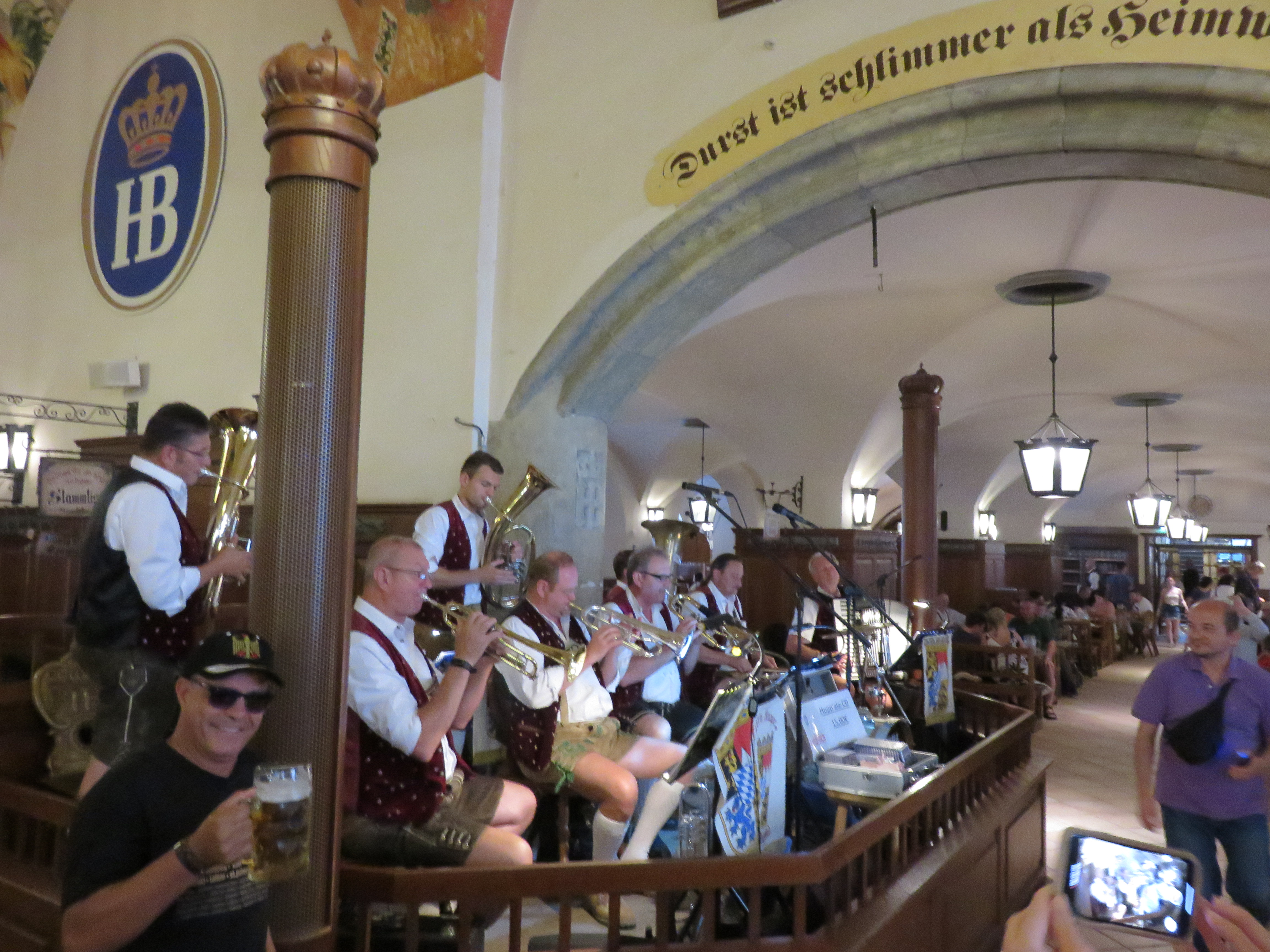 IMG_9607 At the Hofbräuhaus, it's an Oktoberfest party every night with an OomPahPah band..JPG