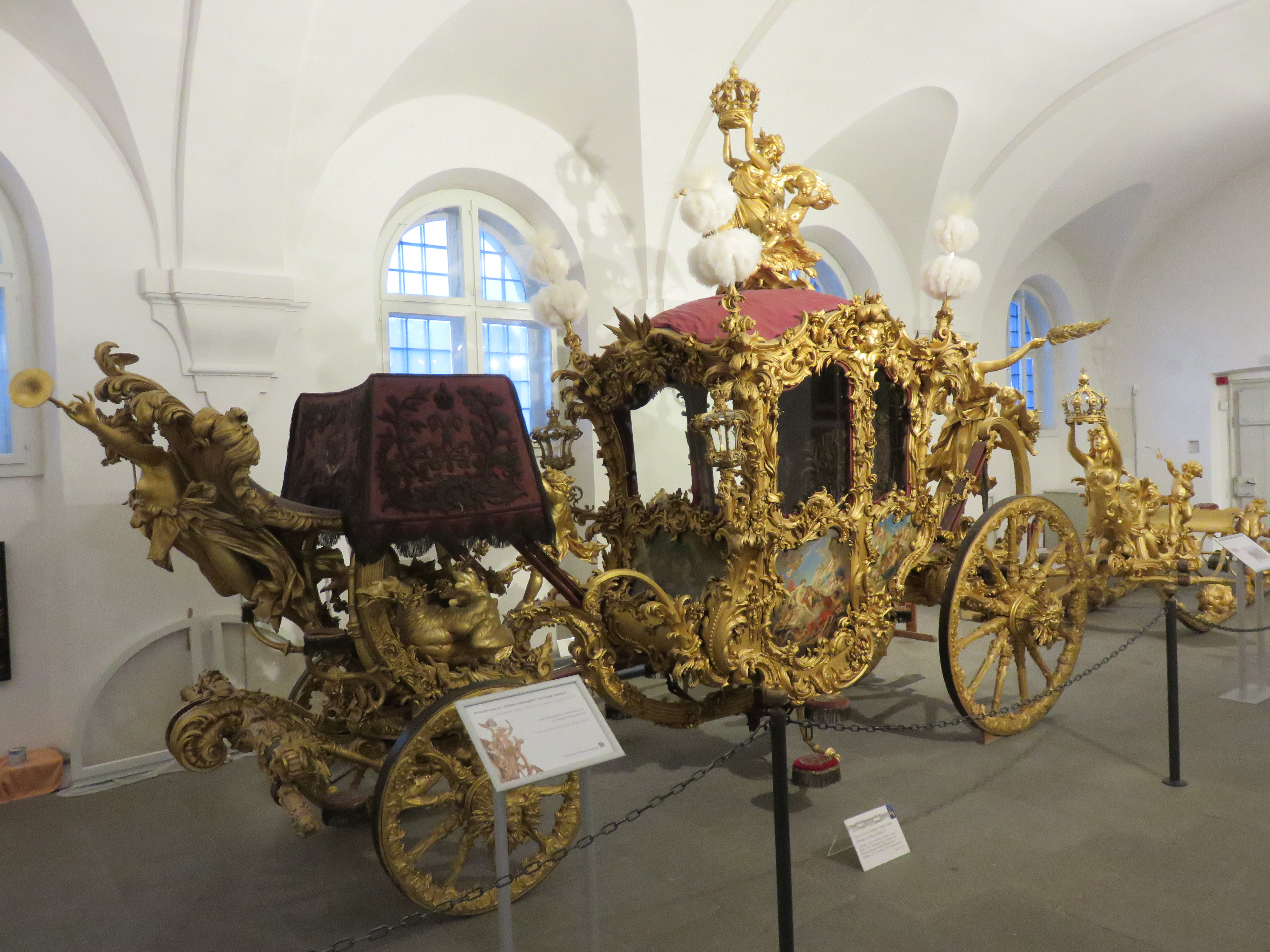 IMG_9652 Just one of the many gilded coaches used by royalty on display..JPG